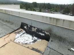 Parapet Wall Contaminated with Asphalt